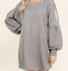 Far and Wide Dress - Heather Grey