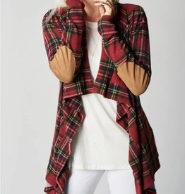 Go Softly Cardigan- Red
