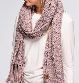 Beat The Chill Chunky Scarf- Rose/Grey
