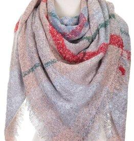 Oversize Blanket Scarf- Pink