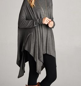 No Occasion Needed Tunic - Charcoal