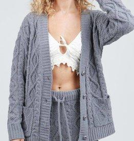 Cozy Cuddles Cardigan- Grey