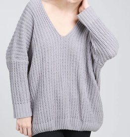 Whatever It Takes Sweater- Grey