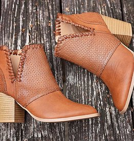 Rise To The Top Bootie - Chestnut