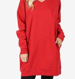 What I Resort To Oversize Sweatshirt - Ruby