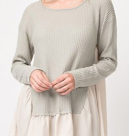 Touch of Charm Tunic - Sage