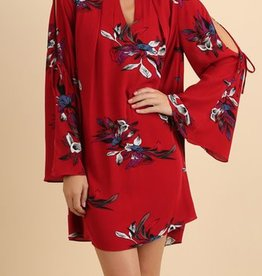 Slip Me Away Dress - Red Mix