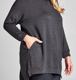 Fall Is Calling Top - Charcoal