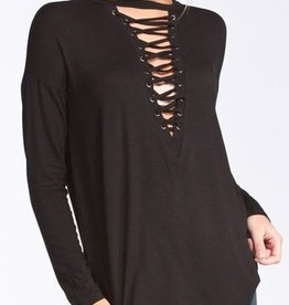 Double Cross Top - Black