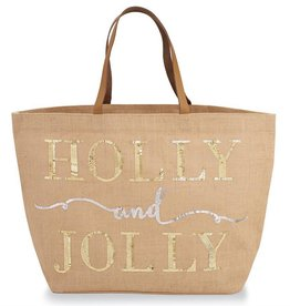 Holly And Jolly Tote- Tan