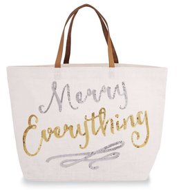 Merry Everything Tote- White