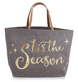 Tis The Season Tote- Gray