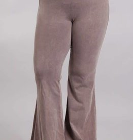 Nine To Five Bell Bottom Pants- Desert Taupe