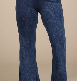 Nine To Five Bell Bottom Pants- Electric Blue