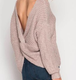 Twisted Fate Sweater- Rose Mocha