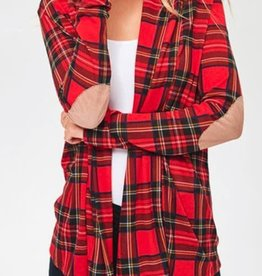 Made For Plaid Top- Red