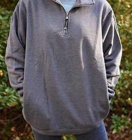 Crosswind Quarter Zip Sweatshirt - Dark Charcoal Heather