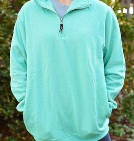 Crosswind Quarter Zip Sweatshirt- Mint