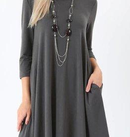Love Above All Dress - Ash Grey