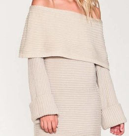 You Only Live Once Sweater Tunic - Taupe