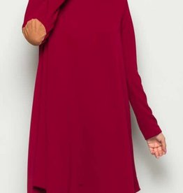 Find Your Wild Side Dress - Burgundy