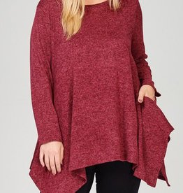 You And Me Tunic - Burgundy