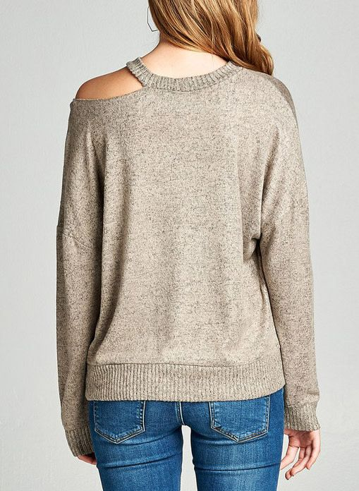 Heart On My Sleeve Top - Taupe