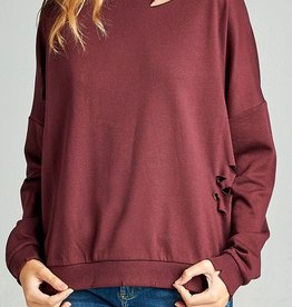 Seamingly Perfect Top - Dark Berry