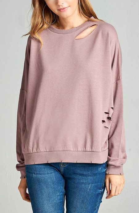 Seamingly Perfect Top - Dusty Mauve