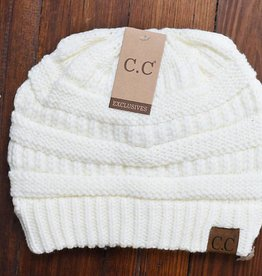 Beanie Hat Ivory (One Size)