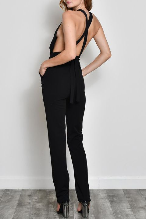 Admiring Looks Jumpsuit - Black