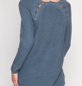 Where To Go From Here Sweater - Dusty Blue