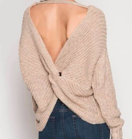 Twisted Fate Sweater- Lt. Taupe