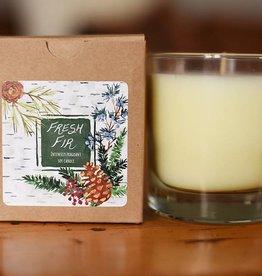 Clear Glass Candle Fresh Fir