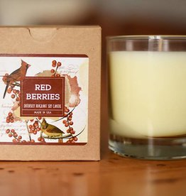 Clear Glass Candle Red Berries