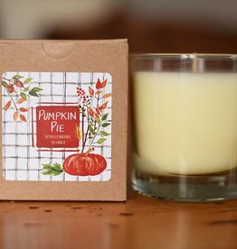 Clear Glass Candle Pumpkin Pie