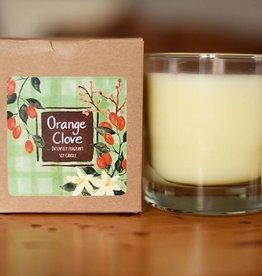 Clear Glass Candle Orange Clove