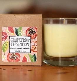 Clear Glass Candle Grapefruit Persimmon  (BF)