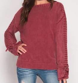 He Loves Me Knot Sweater - Red Brick