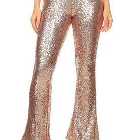 Fly Girl High Waisted Pants - Champagne