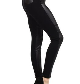 Crazy For You Duo Fabric Leggings - Black