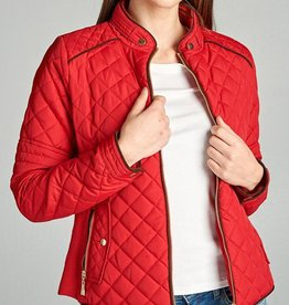 Winding Roads Quilted Jacket - Red