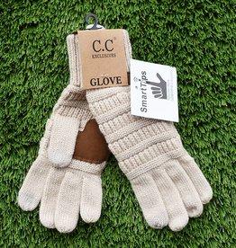 Knit Glove - Beige