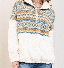 Day Of Night Pullover- Cream