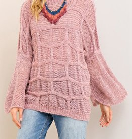 Open Skies Sweater- Mauve