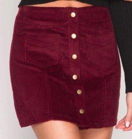 Day To Day Corduroy Mini Skirt - Wine