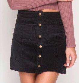 Day To Day Corduroy Mini Skirt - Black
