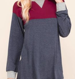 I'm Invested Long Sleeve Top - Burgundy