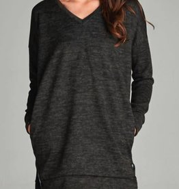 Chilled About Tunic - Charcoal