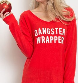 Gangster Wrapper Graphic Top - Red